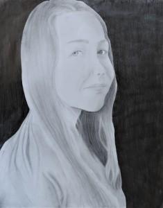 Madison Arnold, Self Portrait, Graphite